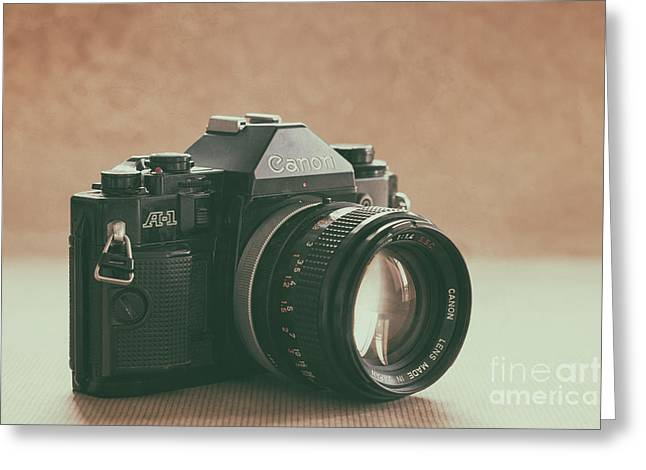 Greeting Card featuring the photograph Canon A1 by Ana V Ramirez