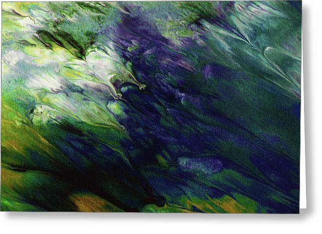 Canopy 3- Art By Linda Woods Greeting Card