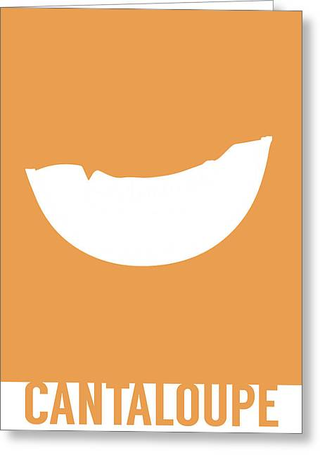 Cantaloupe Food Art Minimalist Fruit Poster Series 018 Greeting Card by Design Turnpike