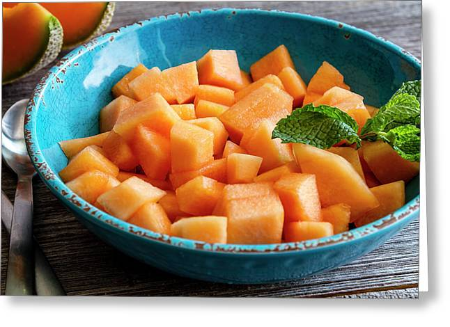 Cantaloupe For Breakfast Greeting Card by Teri Virbickis