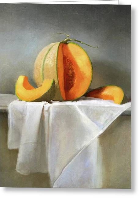 Cantaloupes Greeting Card by Robert Papp