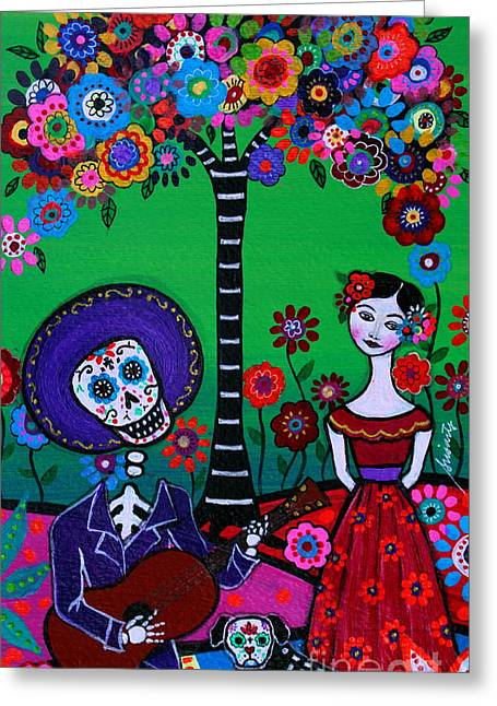 Greeting Card featuring the painting Serenata Especial Para Axl by Pristine Cartera Turkus