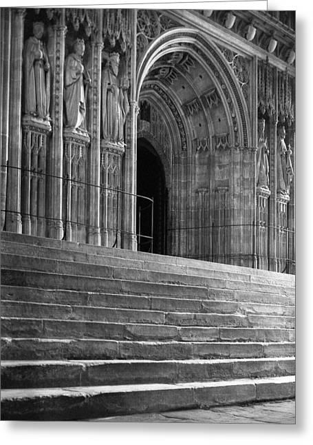 Canterbury Cathedral Choir Entrance Canterbury England Greeting Card by Richard Singleton