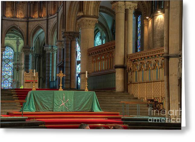 Archbishop Greeting Cards - Canterbury Cathedral High Table Greeting Card by Donald Davis