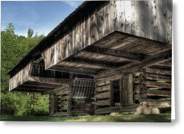 Cantilever Barn 2 Greeting Card by Michael Eingle