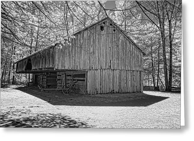 Cantilever Barn Greeting Card by Bob  Colvin
