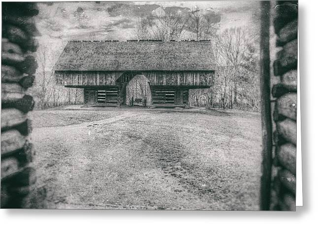 Cantilever Barn Greeting Card by David Wilson