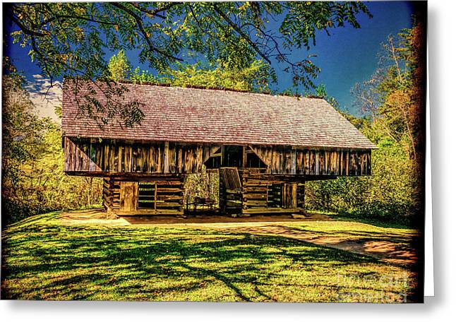 Cantilever Barn Greeting Card by Nick Zelinsky