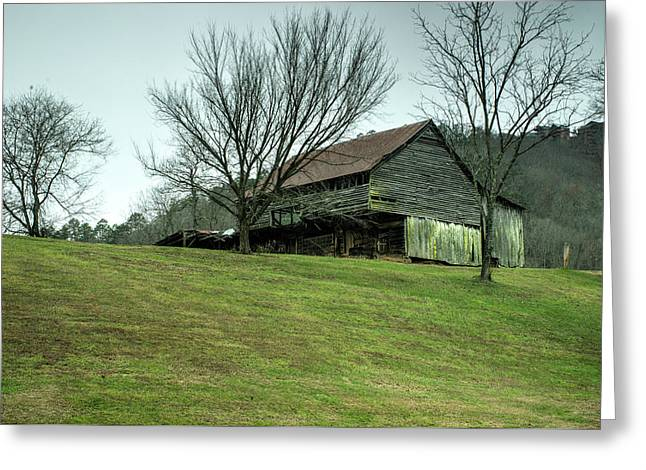 Cantilever Barn Sevier County Tennessee Greeting Card by Douglas Barnett