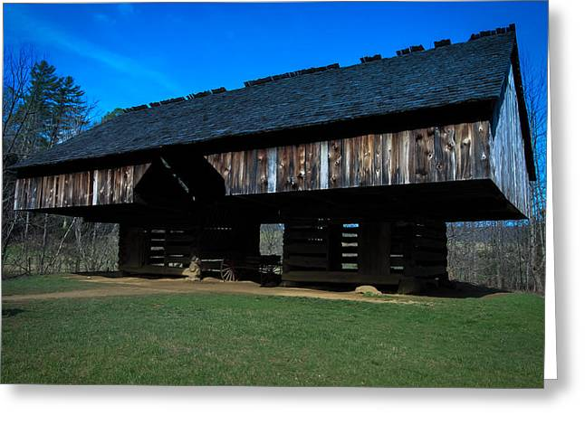 Cantilever Barn Greeting Card by Susan Harris