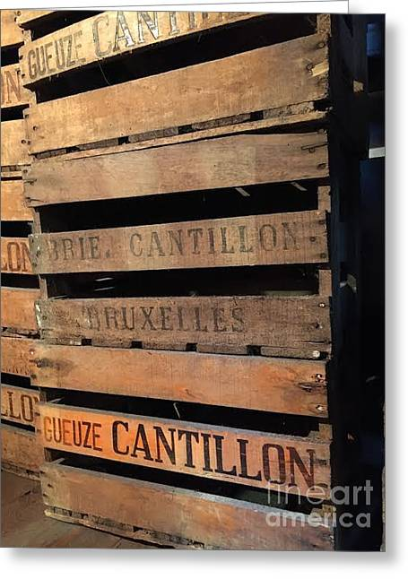 Cantillon Crates Greeting Card by Evan N