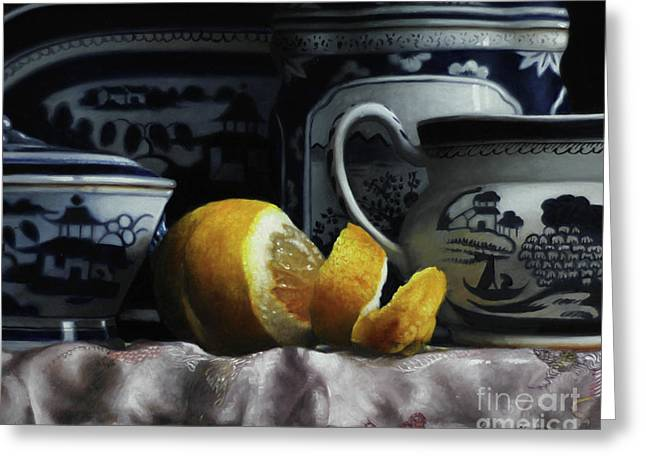 Canton/lemon/silk Greeting Card by Larry Preston