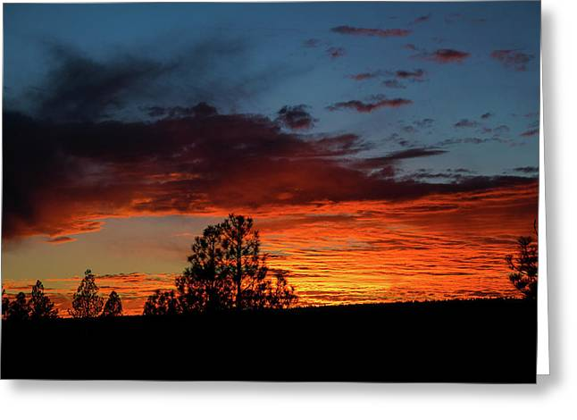 Canvas For A Setting Sun Greeting Card