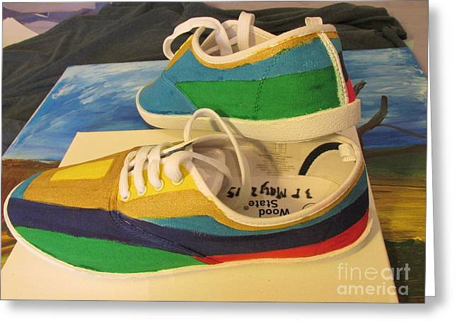 Canvas Shoe Art 003 Greeting Card