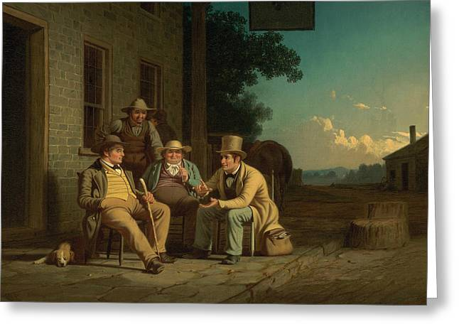 Canvassing For A Vote Greeting Card by George Caleb Bingham