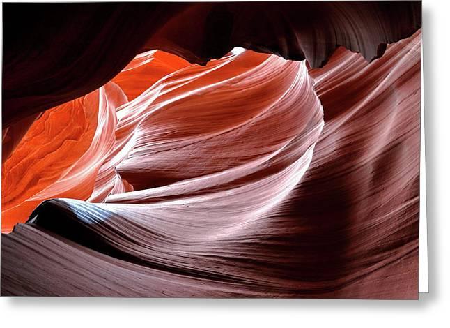 Canyon Abstract 2 Greeting Card