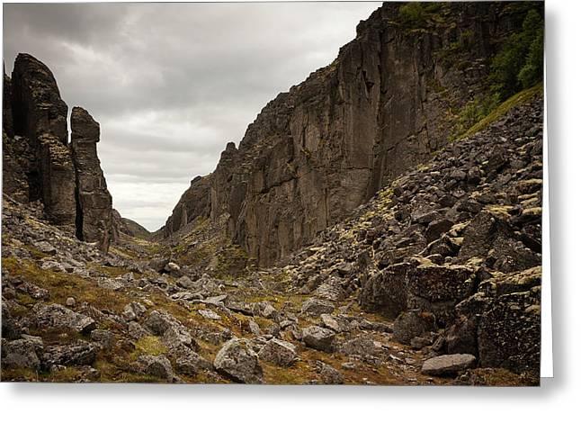 Canyon Aku Aku Greeting Card by Konstantin Dikovsky