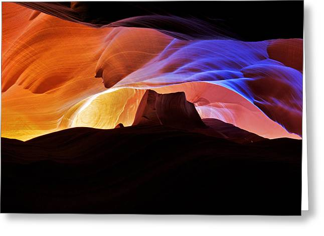 Greeting Card featuring the photograph Canyon Antelope by Evgeny Vasenev
