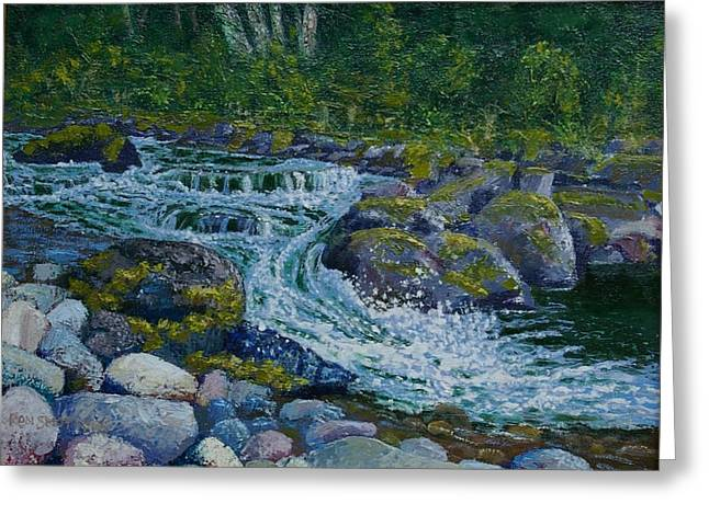 Canyon Creek Cadence Greeting Card by Ron Smothers