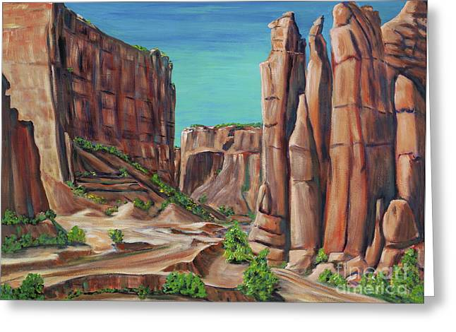 Canyon De Chelly Ar Greeting Card by George Chacon