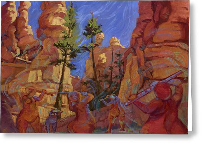 Canyon Echoes Greeting Card by Jane Thorpe