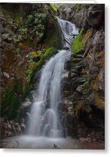Big Sur Greeting Cards - Canyon Falls - Big Sur Greeting Card by Stephen  Vecchiotti