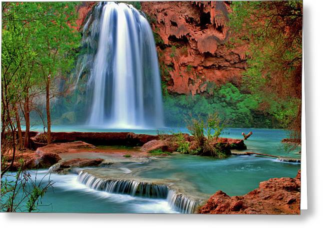 Canyon Falls Greeting Card