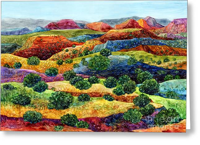 Canyon Impressions Greeting Card by Hailey E Herrera