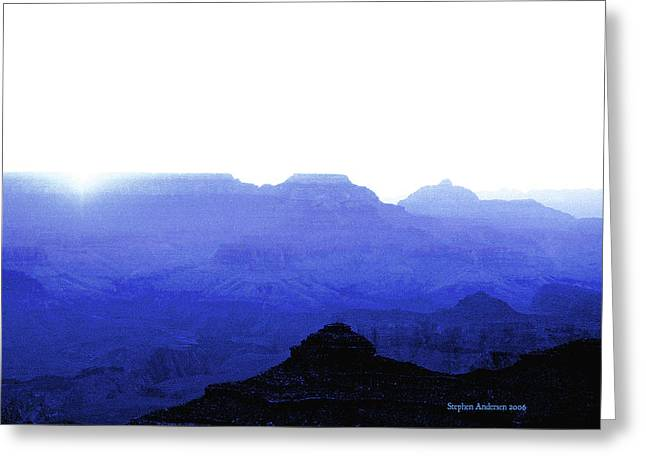 Canyon In Blue Greeting Card