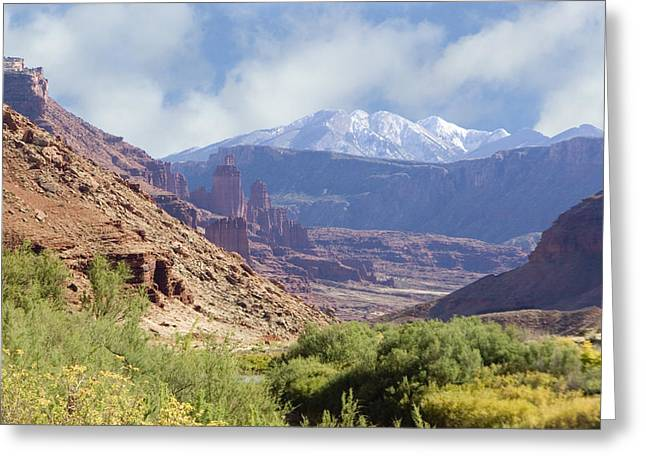 Canyon In Colorado Greeting Card by Judy Deist