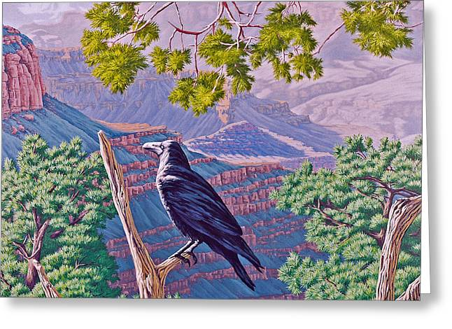 Canyon Jester Greeting Card