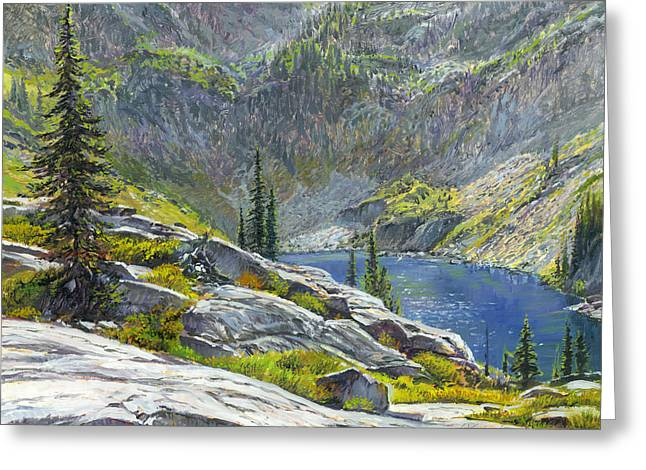 Canyon Lake Greeting Card by Steve Spencer