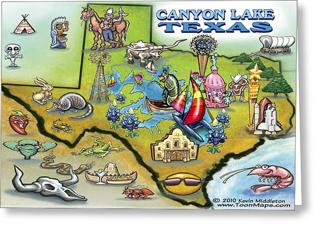 Canyon Lake Texas Greeting Card by Kevin Middleton