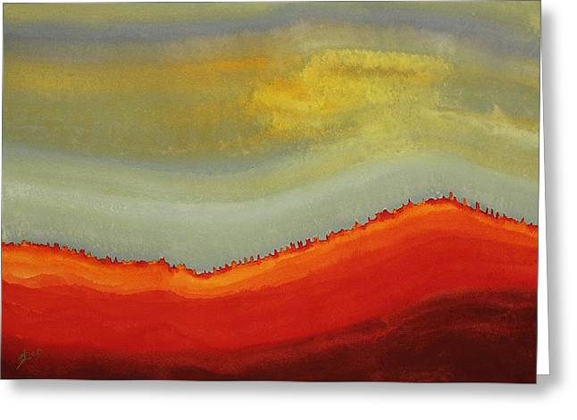 Canyon Outlandish Original Painting Greeting Card by Sol Luckman