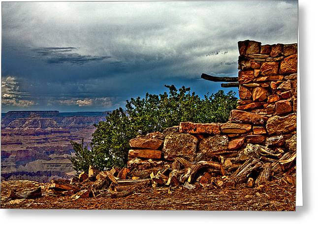 Canyon Outlook Greeting Card by William Wetmore