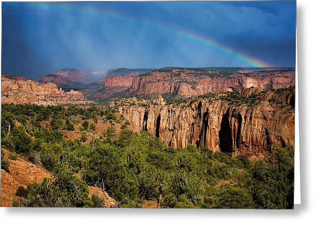 Canyon - Rainbow - Arizona Greeting Card