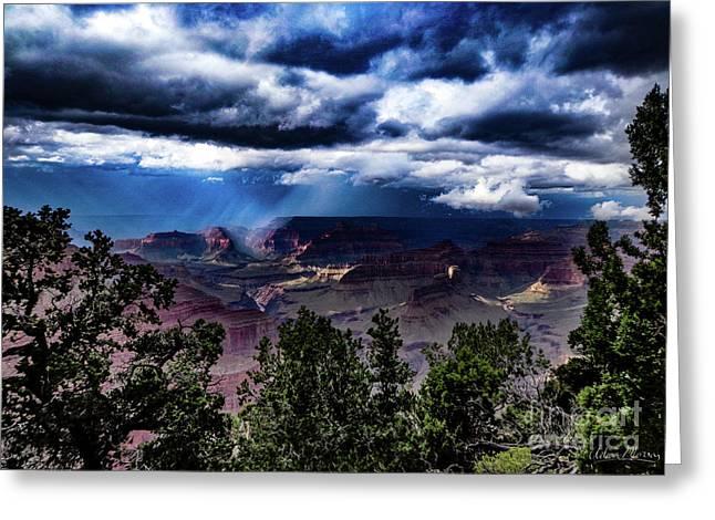 Canyon Rains Greeting Card