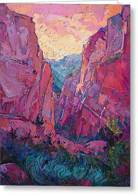 Canyon Rays Greeting Card