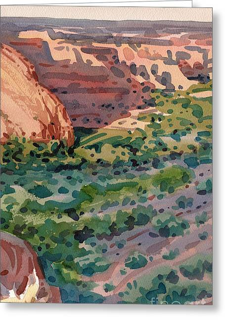 Canyon Shadows Greeting Card by Donald Maier