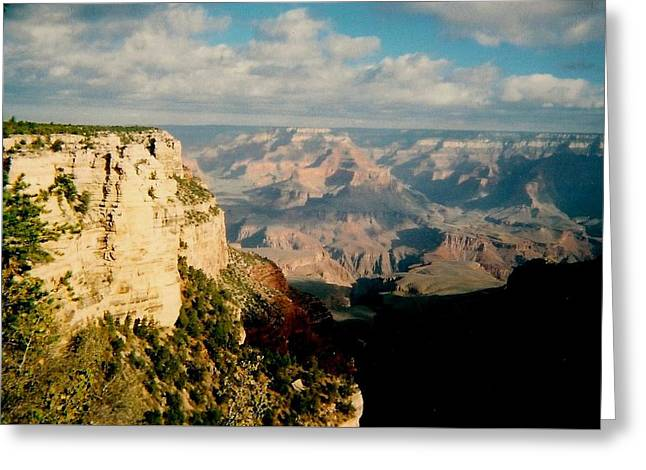 Greeting Card featuring the photograph Canyon Shadows by Fred Wilson