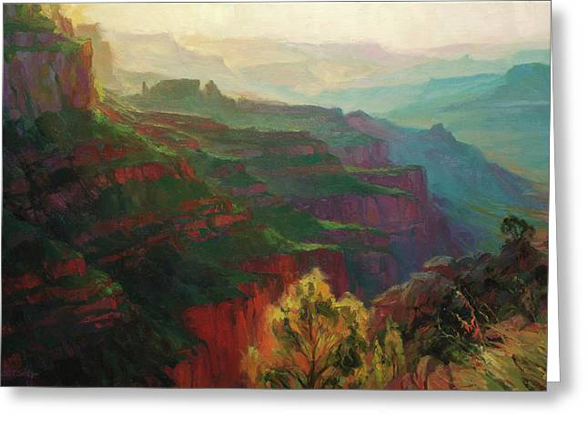 Canyon Silhouettes Greeting Card
