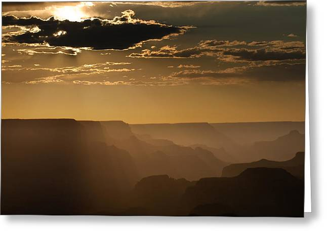 Canyon Strata Greeting Card by Steve Gadomski