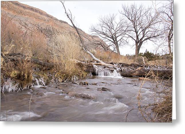 Canyon Stream Current Greeting Card
