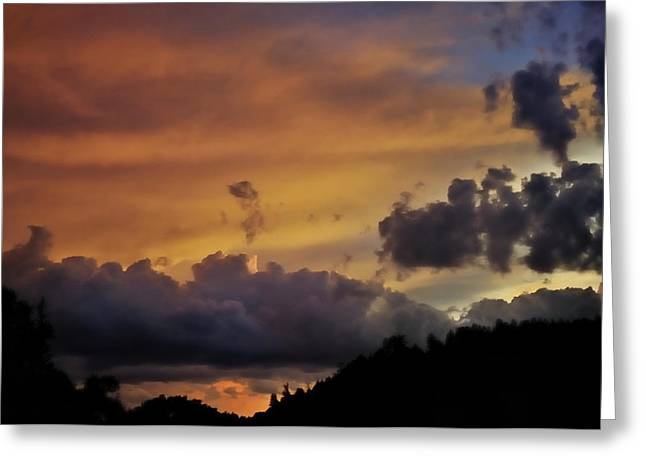 Canyon Sunset Greeting Card by Ron Cline