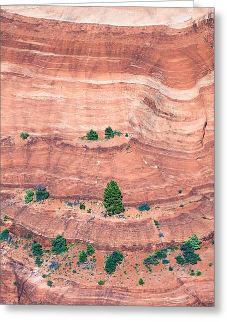 Canyon Wall Abstract Greeting Card by Joseph Smith