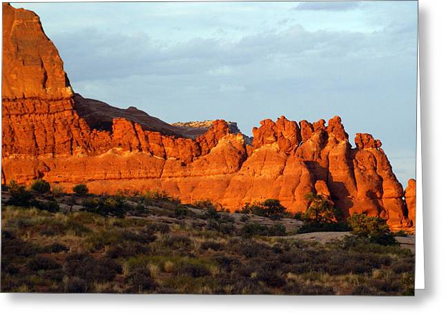 Canyonlands At Sunset Greeting Card by Marty Koch