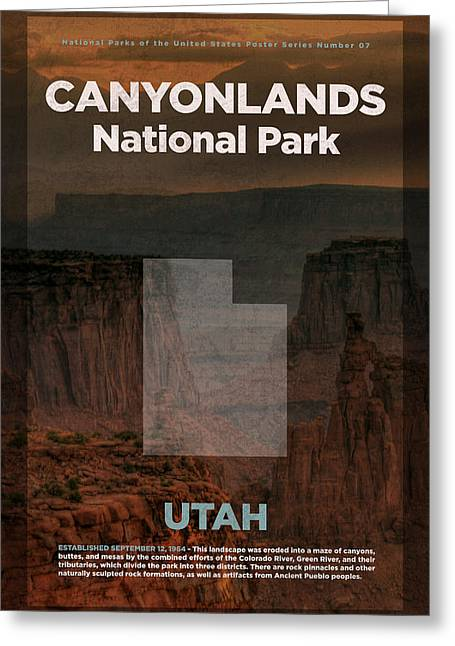 Canyonlands National Park In Utah Travel Poster Series Of National Parks Number 07 Greeting Card by Design Turnpike