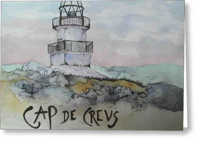 Cap De Creus Lighthouse Greeting Card by Donna Starr