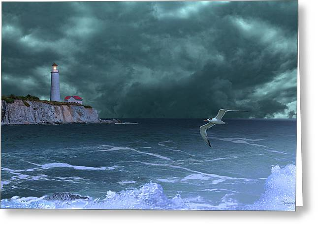 Cap-des-rosiers Lighthouse Greeting Card