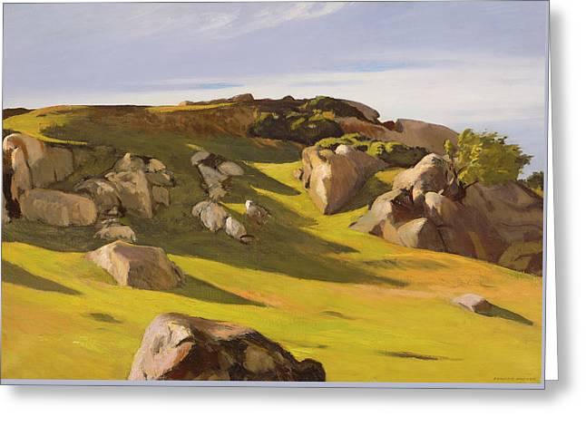 Cape Ann Granite Greeting Card by Edward Hopper